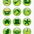 Royalty-Free Stock Vector Image: Set of 12 st. patrick\'s button
