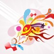Background with colorful artwork — Image vectorielle