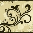 Grungy border background with floral — Vector de stock