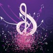 Royalty-Free Stock Vector Image: Grungy musical notes on background
