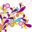 Colorful artwork on seamless background - Stockvektor