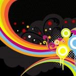 illustrazione di sgangherata colorato opera d'arte — Vettoriale Stock  #2161678
