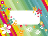 Background with colorful blossoms — Stock Vector