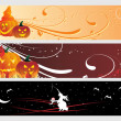 Abstract halloween banner — 图库矢量图片