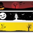 Abstract halloween banner — Stock Vector