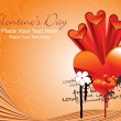Beautiful wallpaper for valentine day — Vector de stock