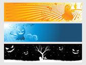 Astratto banner di halloween — Vettoriale Stock