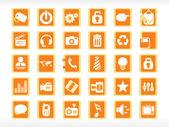 векторные иконки набор — Cтоковый вектор