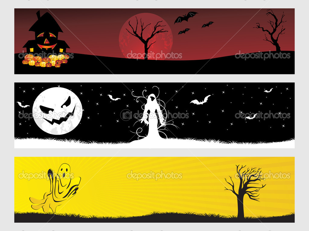 Abstract halloween banner series set32  Stock Vector #2180131