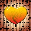 Royalty-Free Stock Immagine Vettoriale: Decorated heart with abstract background