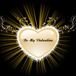 Vector de stock : Background with heart shape frame
