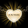 Royalty-Free Stock Immagine Vettoriale: Background with heart shape frame
