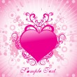 Royalty-Free Stock Vector Image: Pink heart with retro background