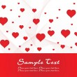 Romantic love card for love — Stock vektor