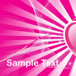 Pink love background — Stock Vector