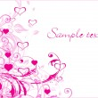 Vecteur: Abstract-valentine banner