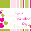 Decorated valentine's card - Image vectorielle