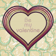 Illustration valentine card — Vector de stock