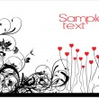 Abstract valentine banner - Image vectorielle