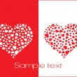 Abstract valentine text - Image vectorielle