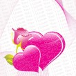 Illustration valentine with flower - Image vectorielle