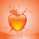 corazón San Valentín abstracto — Vector de stock