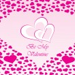 Royalty-Free Stock Imagen vectorial: Background with valentine