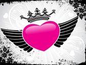 Streszczenie różowy ornament projekt serce — Wektor stockowy