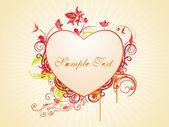 Fond abstrait rayons avec un décor d'amour — Vecteur