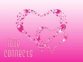 Güzel pembe kalp şekli süsleme — Stok Vektör
