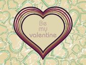 Illustration valentine card — Vettoriale Stock