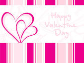 Illustration---pink valentine card — 图库矢量图片