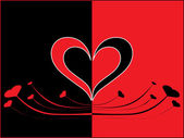 Romantický valentýn karta — Stock vektor