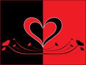 浪漫的情人节卡片 — 图库矢量图片