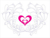 Abstact valentine love card — Stock Vector