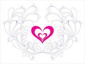 Abstact Valentijn liefde kaart — Stockvector