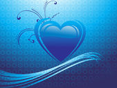 Abstrakt valentine hjärta — Stockvektor