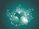抽象的なバレンタイン ハート — ストックベクタ