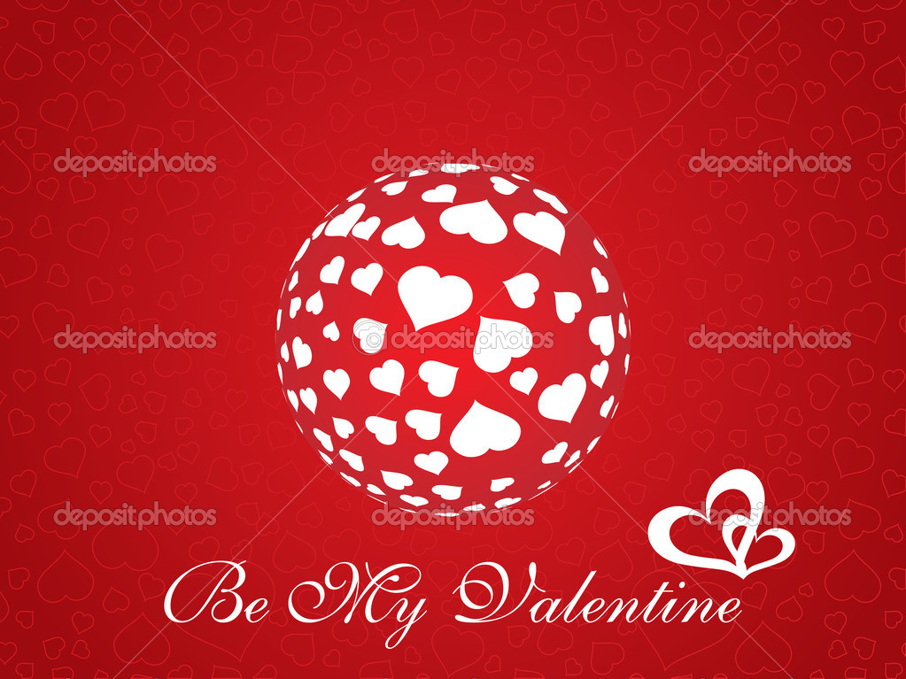 Abstract vector background with valentine ornament, design7  Stock Vector #2199099