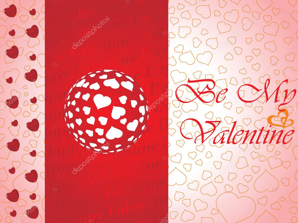 Abstract vector background with valentine ornament, design8 — Stock Vector #2199144