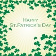 Stock Vector: St. patricks rays background
