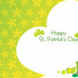 Green color shamrock background — Stock Vector