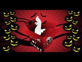 Abstract halloween illustration — Stock Vector