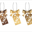 Royalty-Free Stock Vectorielle: Golden shopping tag
