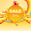 Background of -30% sale — Imagen vectorial