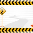 Vector road sign illustration — Stock Vector