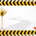 Vector road sign illustration — Stock Vector