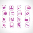 Vector icons element — Stock Vector