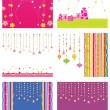 Royalty-Free Stock Vectorafbeeldingen: Set of new year card