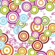 Background with colorful circle - Stock vektor